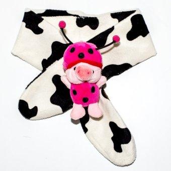Khăn choàng cao cấp cho trẻ từ 0-10 tuổi - Mushroom Lee - (Hoa văn trắng bò sữa)