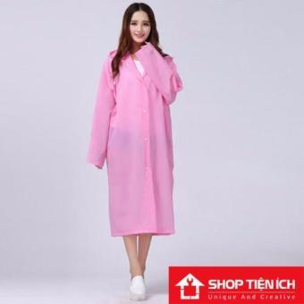 Áo mưa thời trang Shop Tiện Ích (Hồng phấn)