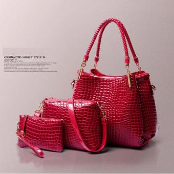 Bộ 3 túi xách nữ thời trang Làm đẹp (đỏ)
