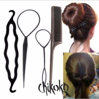 Bộ 4 dụng cụ tạo kiểu tóc đa năng-4 Món