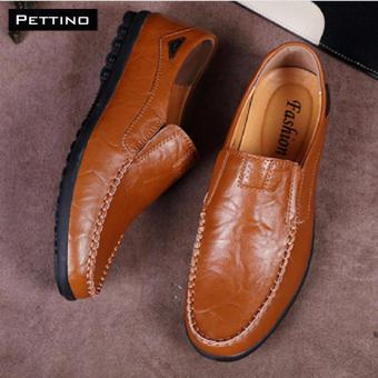 Giày Lười Nam Cao Cấp - Pettino GL08 (nâu)