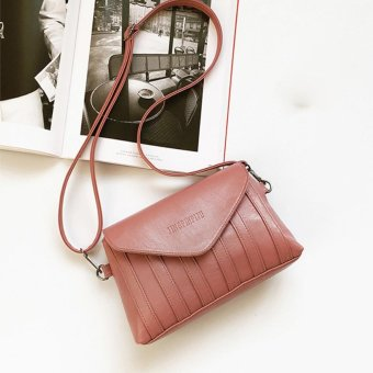Vintage Handbags Women Clutches Party Purse Crossbody Shoulder Messenger Bags Pink - intl