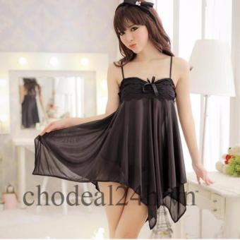 Áo đầm ngủ quyến rũ Angel CDAN03 (Đen)