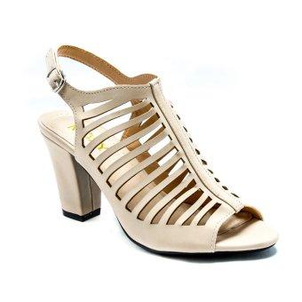 Giày xăng đan cao gót xương cá Mozy MZSD016.1(kem)