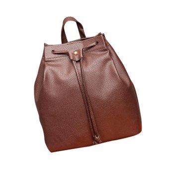 Women Fashion DrawstringTravel Satchel School Bag Backpack Bucket Bag - intl