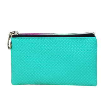 Women Fashion Leather Wallet Sky blue