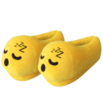 Women Cartoon Face Expression Style Winter Indoor Plush Slipper Soft Warm Plush Slippers Average Size for CN 36-40 / EU 36-40 / US 5-9 Style A - intl