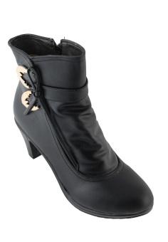 Giày Boots Nữ Cổ Thấp Gót Cao Vừa SoYoung WM BOOT 014 B