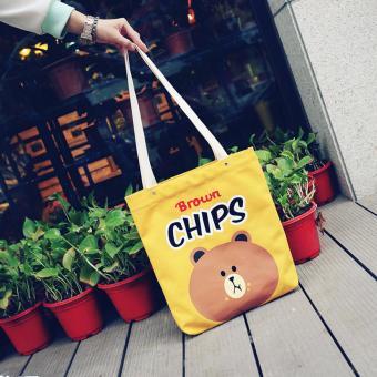 Túi xách tone vải đeo vai SPH-HBR04(VÀNG)