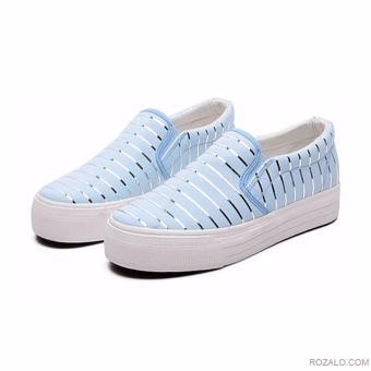 Giày lười Slip On nữ Rozalo RWG3665X-Xanh