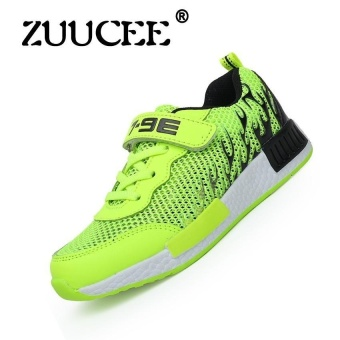 Childrens Shoes Boys And Girls Sports Shoes Childrensrunning Shoes Boys And Girls Leisure Shoes Summer Comfortable Lightsports Shoes (Green) - intl