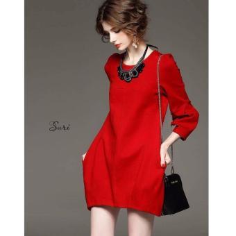 Đầm suông rực rỡ Xavia Clothes Suri (Đỏ)