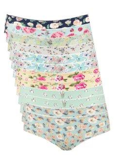 Bộ 12 quần lót lạnh hoa không viền Salome Fashion