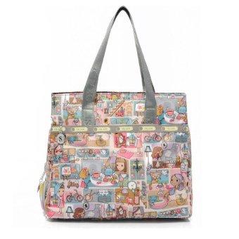 Túi vải thời trang Foxer SK192 (Hoa văn nhiều mầu)