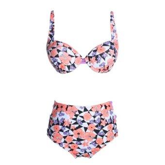 Women Padded Push up Bra Bathing Bikini Set Swimsuit Swimwear (S) - intl