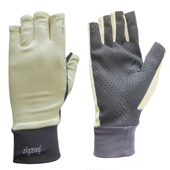 zigzag GLV00509- Găng tay Biking chống nắng UPF50+(kem đen)