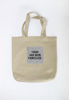 Mua Túi Tote Nữ In Hình Today Has Been Cancelled (Khaki) giá tốt nhất