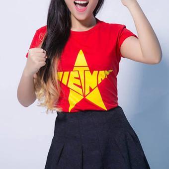 Áo cờ đỏ sao vàng nữ Vương Kim Thành ACDSV04NU ( Đỏ )