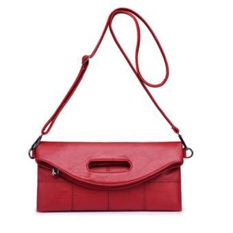 Túi Clutch Gập Sọc Sang Trọng HK19 (Đỏ)