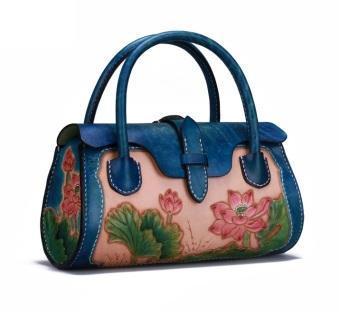 Túi xách nữ thời trang cao cấp hoa sen