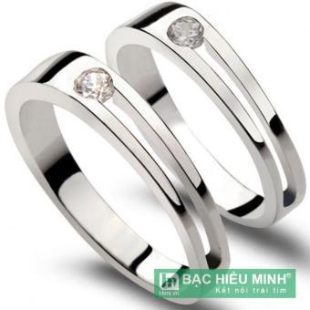 Nhẫn đôi Bạc Hiểu Minh Nhẫn đôi Bạc Hiểu Minh nc161 tình bạn