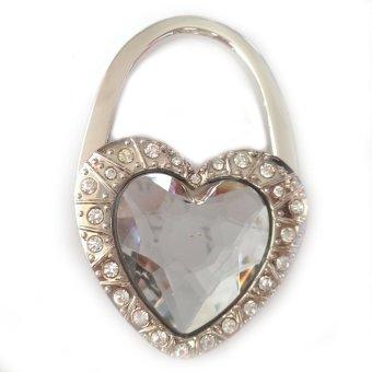 Móc treo túi xách hình trái tim đá (Trắng)