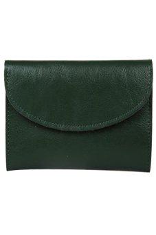 HKS Women Genuine Leather Wallet Clutch Purse Handbag Bag Trifold Bifold Green - intl