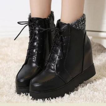 Giày Boot Nữ Cổ Cao B050D (Đen)