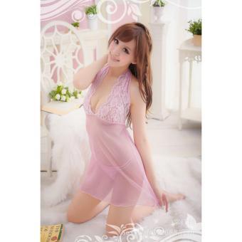 Đầm ngủ voan ren Chodeal24h (hồng)