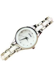 Đồng hồ nữ dây kim loại Kimio 450 (Trắng)