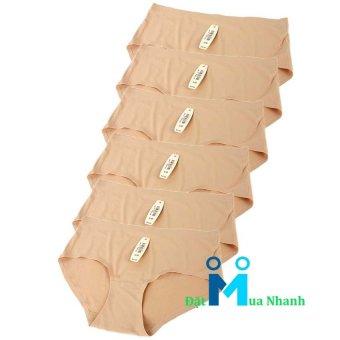 Bộ 6 quần lót su Ice Silk- M02 (da)