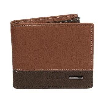 Mens Leather Bifold Money Card Holder Wallet Coin Purse Clutch Pockets - intl