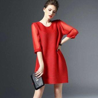 Đầm suông nhẹ tênh Zahra HR658 (Đỏ)