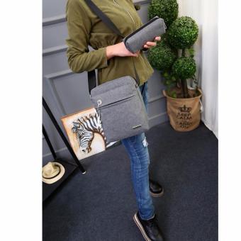 Túi Ipad nam nữ thời trang kèm ví BOTUSI-ipad01(xám)