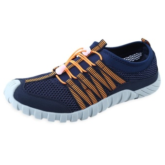 Outdoor Mesh Skid Resistance Color Block Breathable Climbing Shoes for Male - intl