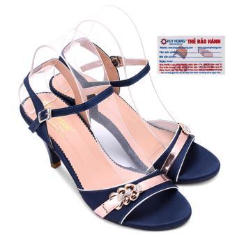 HL7064 - Giày sandal gót cao 9cm nữ huy hoàng màu xanh