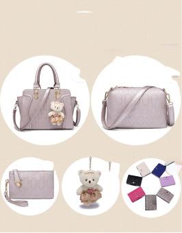 Bộ bốn túi xách nữ TXN00003 (Bạc)
