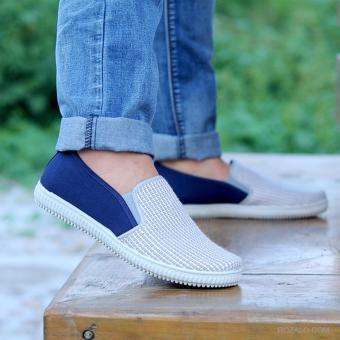 Giày lười Slip On nam Rozalo RMG3218XT (Xanh phối trắng)