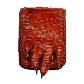 Bao Đựng Hộp Quẹt Zippo Da Cá Sấu HC8002 (Nâu đỏ)
