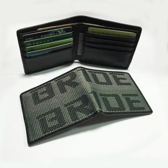BolehDeals Car Racing Bride Wallet Credit and Business cards Holder Pocket Green Gray - intl
