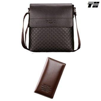 Bộ túi đeo chéo và ví dài nam phong cách THCB11