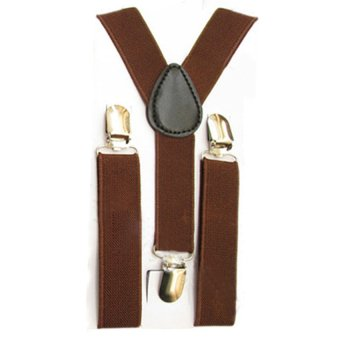 HKS Kids Boys Girls Y-Back Suspender (Coffee) - intl