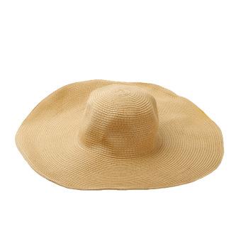 Fashion Cute Women Summer Straw Beach Hat Wide Large Brim Foldable Sun Hat brown - Intl - intl