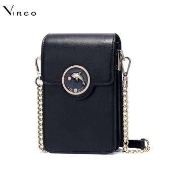 Túi để điện thoại đeo chéo Cá heo màu đen VG254