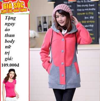 Áo Khoác nữ kitty (Hồng) + Tặng áo thun body nữ