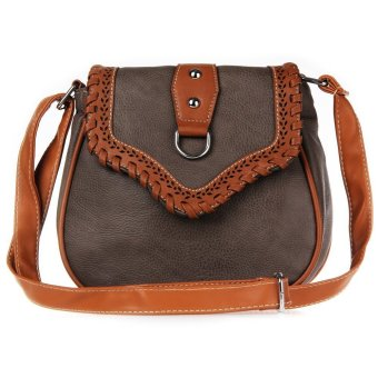 National Style Hollow Design Ladies Soft Bags(Coffee) - Intl