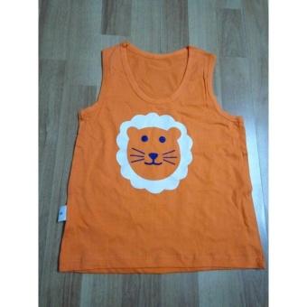 Áo ba lỗ, cotton cho bé trai 5 tuổi (màu cam)