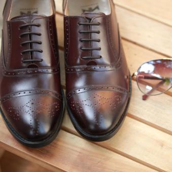 Giày buộc dây nam cao cấp Kazin màu nâu mận - KZNM038