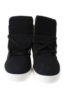 LALANG Sneaker Boots Black - intl