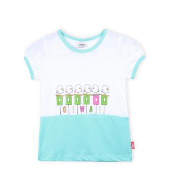 Áo thun bé gái Oiwai 69-4001-061 TUR (xanh)